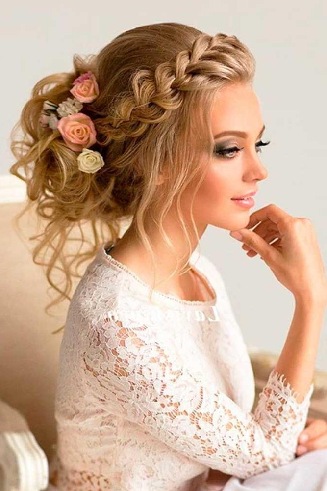 Latest Long Hairstyles For Brides Intended For 25+ Unique Wedding Hairstyles Ideas On Pinterest | Wedding (View 4 of 20)