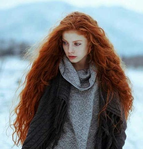 Latest Long Hairstyles For Red Hair Pertaining To Best 25+ Curly Red Hair Ideas On Pinterest | Merida Hair, Blonde (View 3 of 20)