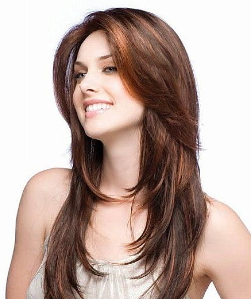 Latest Long Hairstyles With Layers For Round Faces Pertaining To Layered Hairstyles For Long Hair Round Face (View 7 of 20)