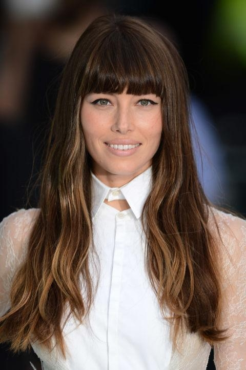 Latest Long Hairstyles With Straight Bangs With Regard To Blunt Bangs Are So Trendy For 2016 — Best Blunt Bang Styles (View 9 of 20)