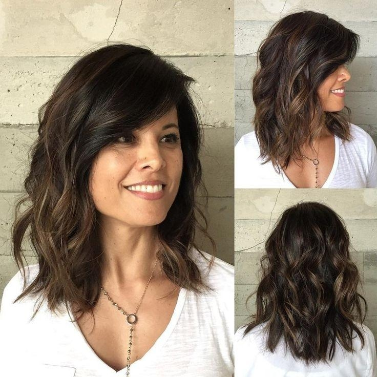 Latest Medium Long Haircuts For Thick Hair Intended For 25+ Trending Thick Hair Haircuts Ideas On Pinterest | Lob Haircut (Gallery 2 of 15)