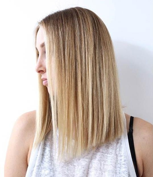 Latest One Length Long Haircuts Intended For 27 Beautiful Long Bob Hairstyles: Shoulder Length Hair Cuts (View 10 of 15)