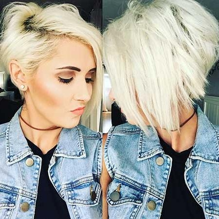 Latest Platinum Blonde Short Hair Pics You Should See | Short For Platinum Blonde Short Hairstyles (View 9 of 20)