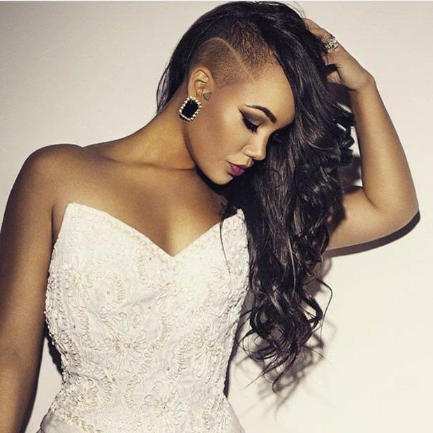 Latest Side Shaved Long Hairstyles Throughout 23 Most Badass Shaved Hairstyles For Women | Stayglam (View 17 of 20)