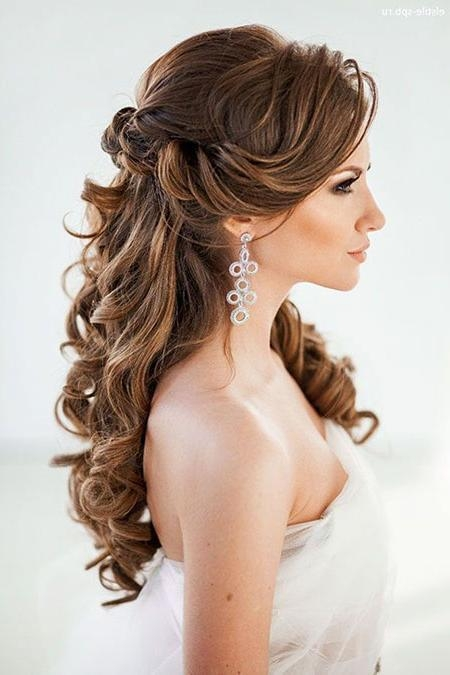 Latest Wedding Long Down Hairstyles For 20 Long Curly Wedding Hairstyles 2017 | Long Hairstyles 2016 –  (View 9 of 20)