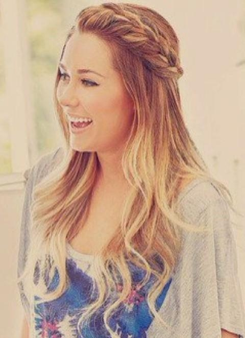 Lauren Conrad Hairstyles: Ombre Hair With Braids – Pretty Designs Within Lauren Conrad Short Haircuts (View 15 of 20)