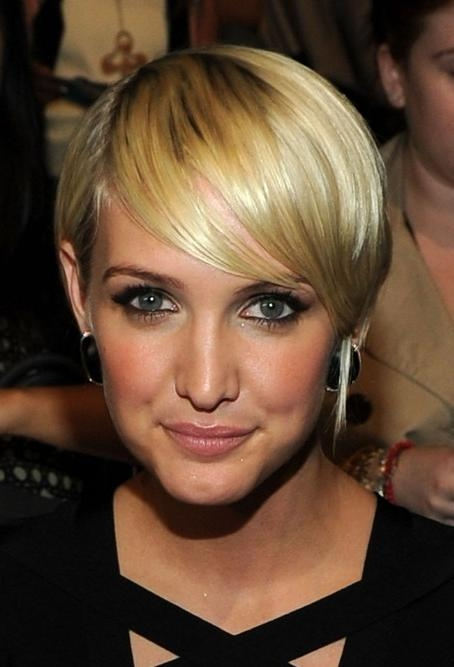 Layered, Golden, Sleek Razor Cut With Bangs – Ashlee Simpson Pertaining To Ashlee Simpson Short Haircuts (View 19 of 20)