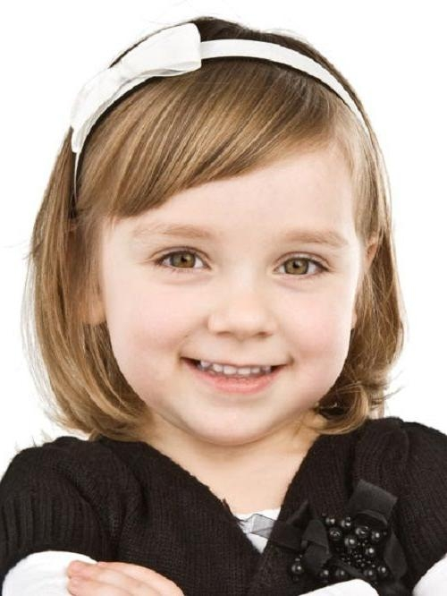 Little Girl Short Haircut With Bangs Perfect Hair Cut For Young Pertaining To Kids Short Haircuts With Bangs (View 16 of 20)