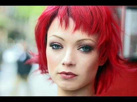 Long To Short Hair Makeovers ✂ Bright Red Hair ✂ How To Cut Throughout Bright Red Short Hairstyles (View 16 of 20)