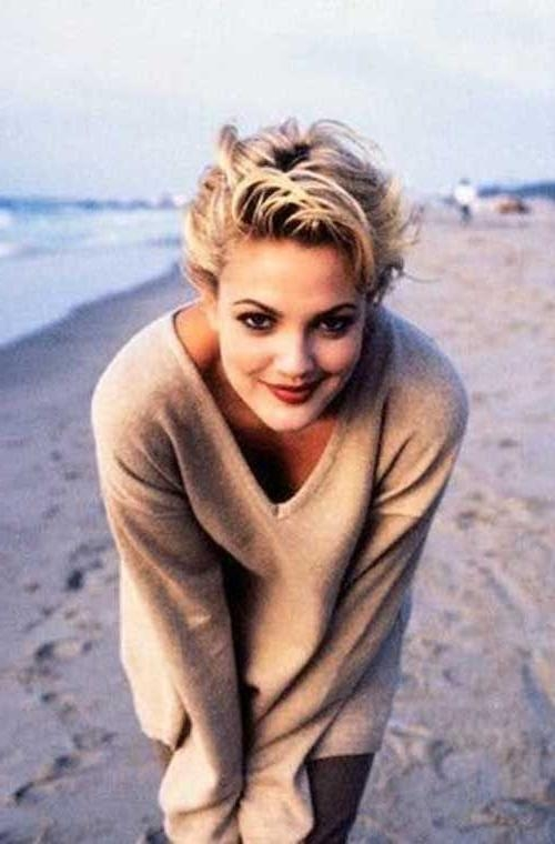 styles for really short hair 20 best of drew barrymore hairstyles 7619 | mas de 25 ideas increibles sobre estilo de drew barrymore en intended for drew barrymore short hairstyles