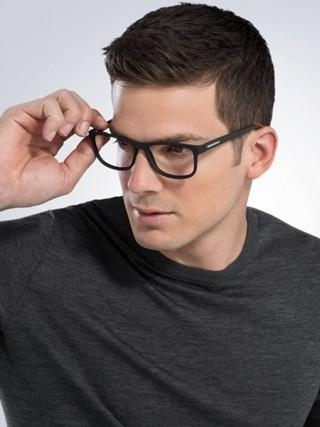 Mens Hairstyles : Short Haircuts And On Pinterest Top For Men Fd Inside Short Haircuts For People With Glasses (View 16 of 20)