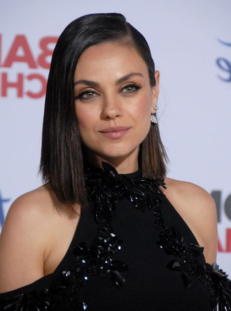 Mila Kunis Looks Like She Shaved Half Her Head With This Hairstyle Intended For Mila Kunis Short Hairstyles (View 14 of 20)