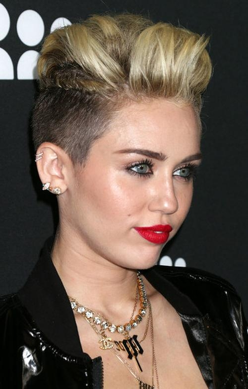 Miley Cyrus Diverse Short Hairstyles For Spring 2015 | Hairstyles Within Short Haircuts Like Miley Cyrus (View 6 of 20)