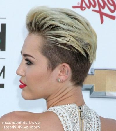 Miley Cyrus | Extremely Short Hairstyle With The Hair Buzzed Close For Miley Cyrus Short Haircuts (View 3 of 20)