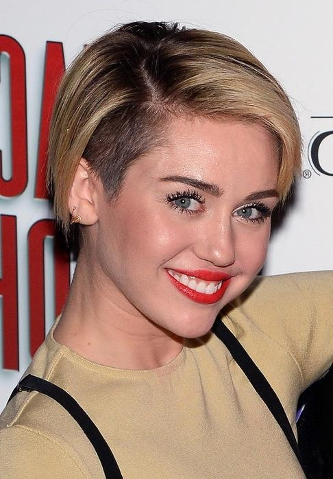 Miley Cyrus Hairstyles – Celebrity Latest Hairstyles 2016 With Regard To Miley Cyrus Short Haircuts (View 4 of 20)
