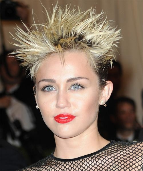 Miley Cyrus Hairstyles For 2018   Celebrity Hairstyles Inside Teased Short Hairstyles (View 3 of 20)