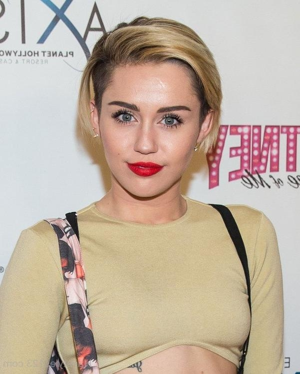 Miley Cyrus Regarding Miley Cyrus Short Hairstyles (View 15 of 20)