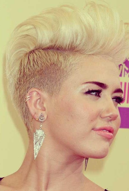 Miley Cyrus Shaved Head 2013 | Short Hairstyles 2016 – 2017 | Most With Short Haircuts Like Miley Cyrus (View 18 of 20)