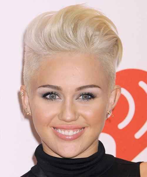 Miley Cyrus Short Hairstyles – Hairstyleceleb Throughout Short Haircuts Like Miley Cyrus (View 13 of 20)