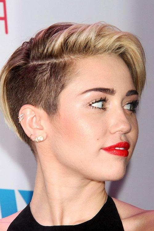 Miley Cyrus Short Hairstyles – Hairstyleceleb Within Miley Cyrus Short Haircuts (View 13 of 20)