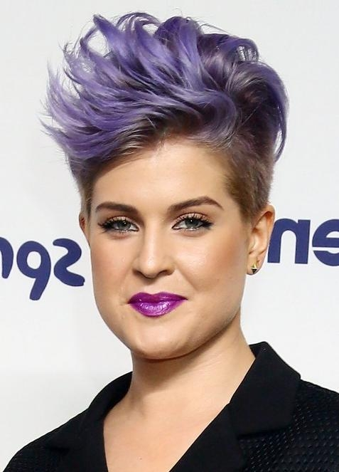 Mohawk Hairstyle Kelly Osbourne Short Spiky Mohawk Hairstyle For Regarding Kelly Osbourne Short Haircuts (View 17 of 20)