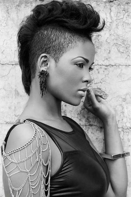 Mohawk Short Hairstyles For Black Women | Short Hairstyles 2016 With Regard To Mohawk Short Hairstyles For Black Women (View 12 of 20)