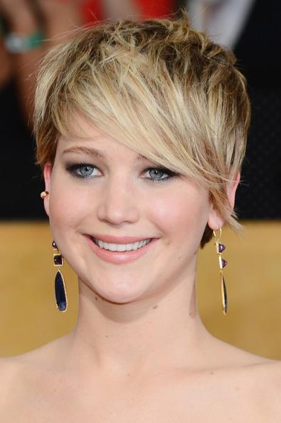 More Pics Of Jennifer Lawrence Messy Cut (22 Of 47) – Short Pertaining To Jennifer Lawrence Short Haircuts (View 18 of 20)