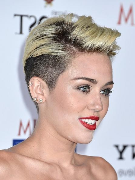 More Pics Of Miley Cyrus Short Straight Cut (2 Of 31) – Short For Miley Cyrus Short Hairstyles (View 12 of 20)