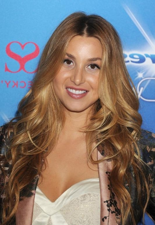 Most Current Center Part Long Hairstyles With Regard To Whitney Port Center Part Haircut For 2013 – Hairstyles Weekly (View 11 of 20)