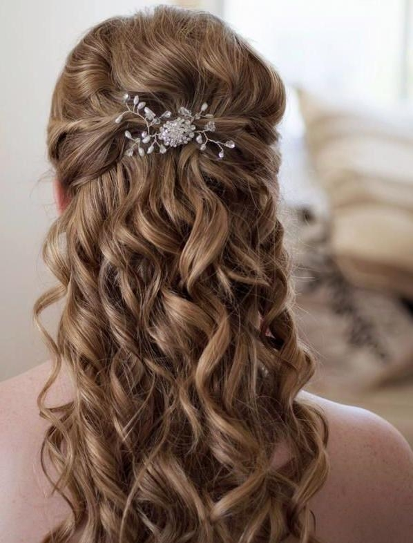 Most Current Elegant Long Hairstyles For Weddings Inside 15 Best Wedding Hairstyles Images On Pinterest | Marriage, Wavy (View 19 of 20)