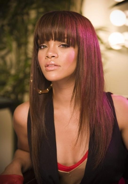 Most Current Full Fringe Long Hairstyles Intended For 10 Long Hairstyles With Bangs For 2014 – Popular Haircuts (View 9 of 20)