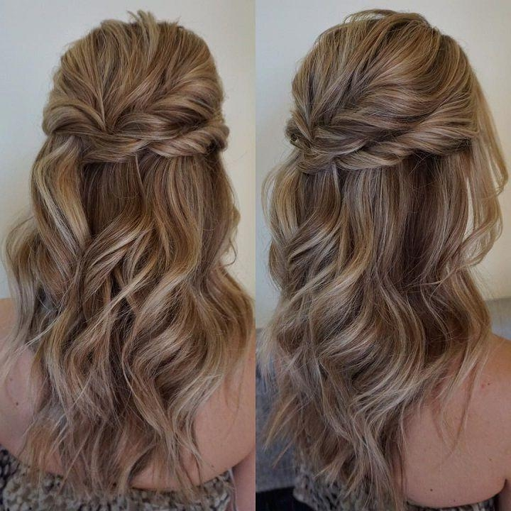Most Current Half Up Long Hairstyles For The 25+ Best Half Up Half Down Ideas On Pinterest | Prom Hair Down (View 11 of 20)