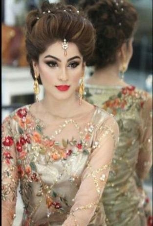 Most Current Indian Bridal Long Hairstyles Within Best 25+ Pakistani Indian Hairstyle Ideas On Pinterest | Pakistani (View 13 of 20)