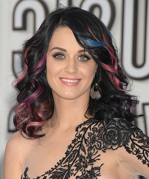 Most Current Katy Perry Long Hairstyles Pertaining To Katy Perry Long Wavy Formal Hairstyle (Bright) (View 5 of 15)