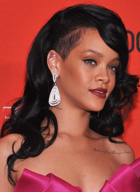 Most Current Long Haircuts With Shaved Side With 50 Best Rihanna Hairstyles (View 8 of 15)