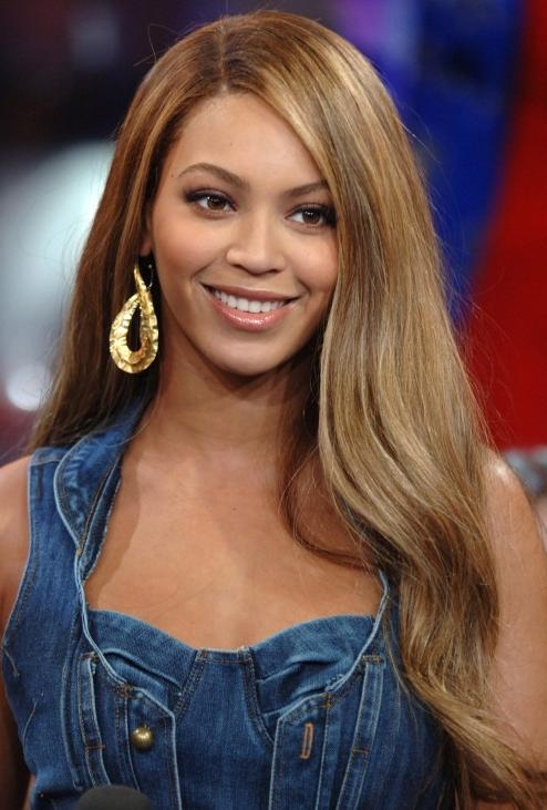 Most Current Long Hairstyles Side Part Intended For Beyonce Knowles Long Straight Side Part Hair Style – Hairstyles Weekly (View 13 of 20)
