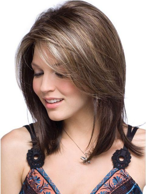 Most Current Medium Long Haircuts With Side Bangs Pertaining To 25+ Beautiful Side Sweep Bangs Ideas On Pinterest   Side Bangs (View 14 of 15)