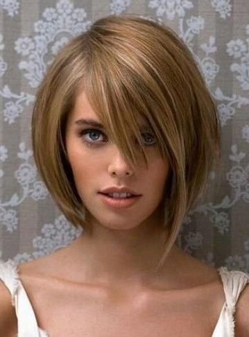 Most Current One Side Long Haircuts With Regard To Short Bob #one Side Longer | Hair | Pinterest | Short Bobs, Bobs (View 5 of 15)
