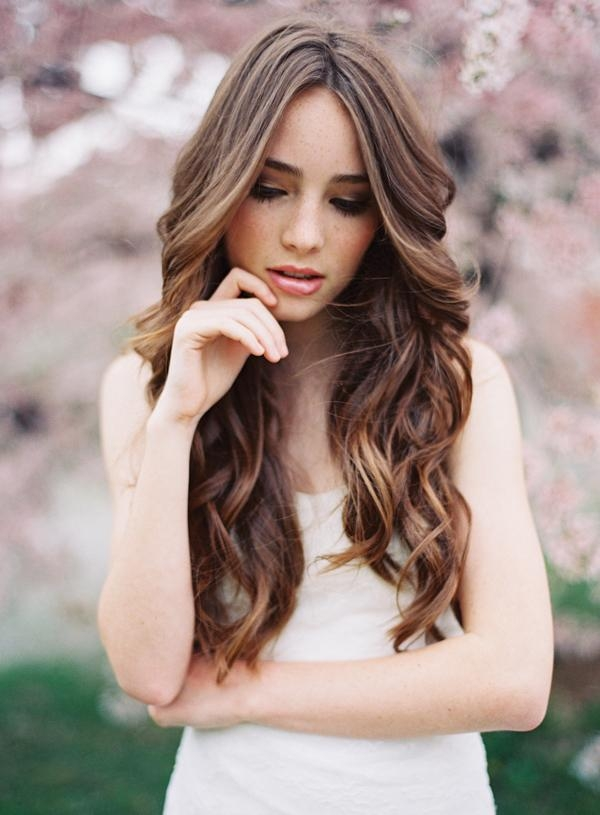 Most Current Wavy Curly Long Hairstyles Inside Hair Wedding Hairstyles Natural Wedding Hairstyles Wavy Curly Long (View 12 of 20)