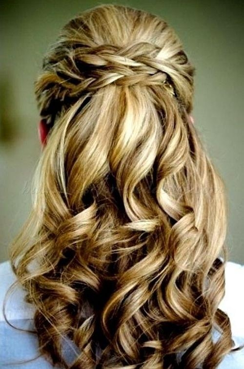 Most Current Wedding Half Up Long Hairstyles Inside Half Updos. Criss Cross Half Updo (View 7 of 20)