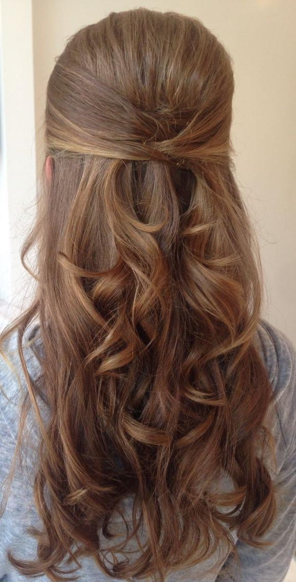 Most Current Wedding Half Up Long Hairstyles With Regard To Best 25+ Half Up Wedding Hair Ideas On Pinterest | Bridal Hair (View 8 of 20)