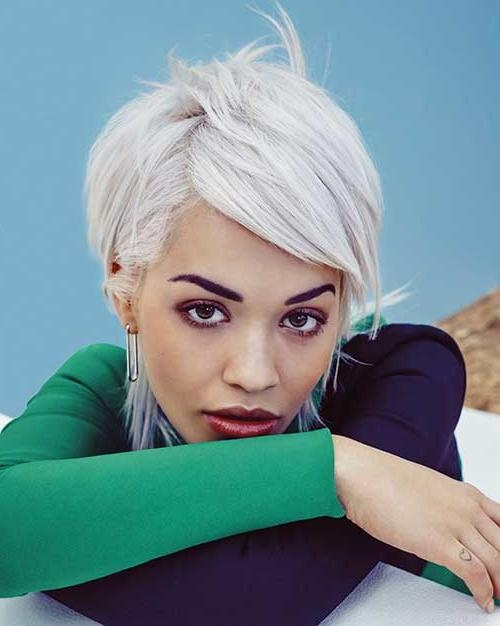 Most Favourite Celebrity Pics With Short Hairstyles | Short Regarding Rita Ora Short Hairstyles (View 5 of 20)
