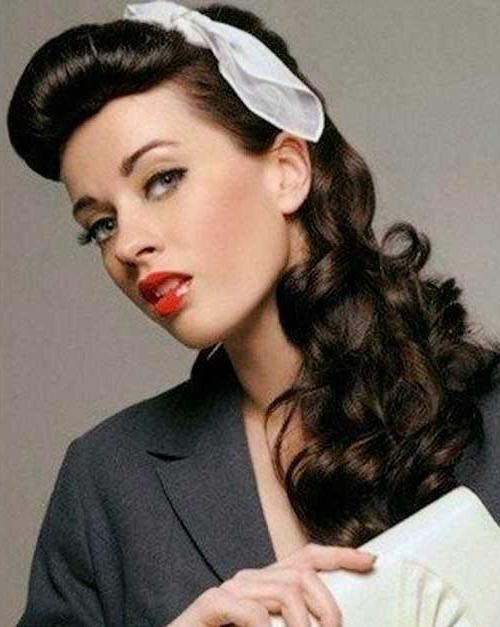 Most Popular 50s Long Hairstyles Throughout 25 Pin Up Hairstyles For Long Hair | Long Hairstyles 2016 – (View 7 of 20)