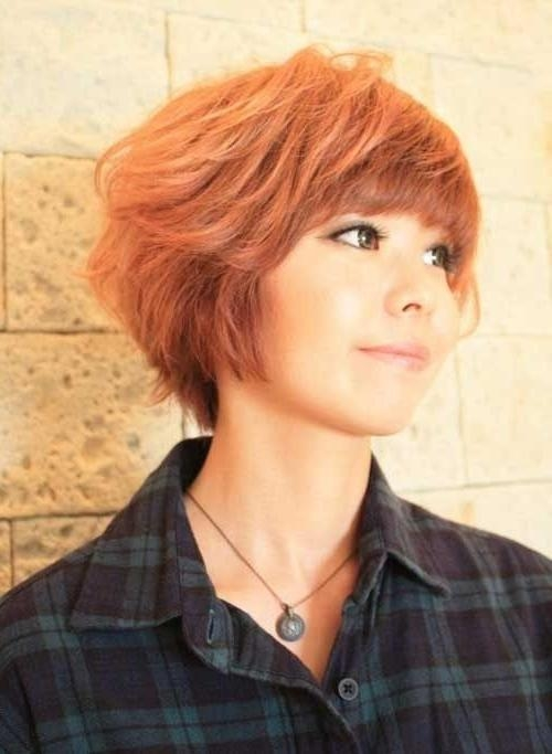 Most Popular Asian Hairstyles For Short Hair – Popular Haircuts For Short Hairstyles With Blunt Bangs (View 12 of 20)