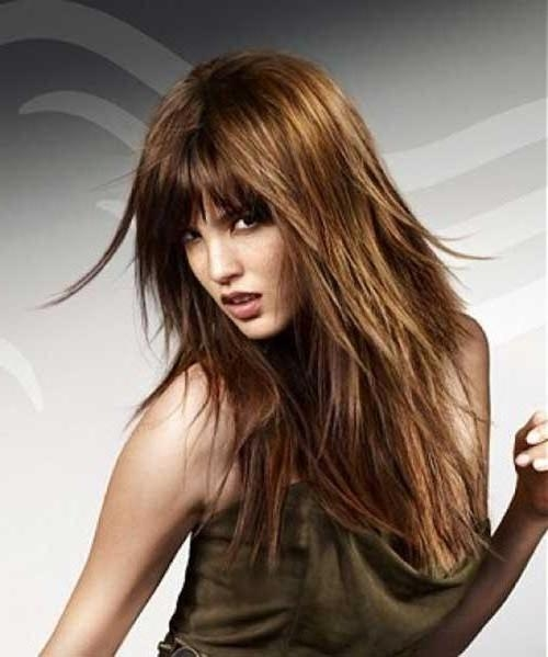 Most Popular Choppy Layered Long Hairstyles Regarding 15 Inspirations Of Long Hairstyles Choppy Layers (View 11 of 20)