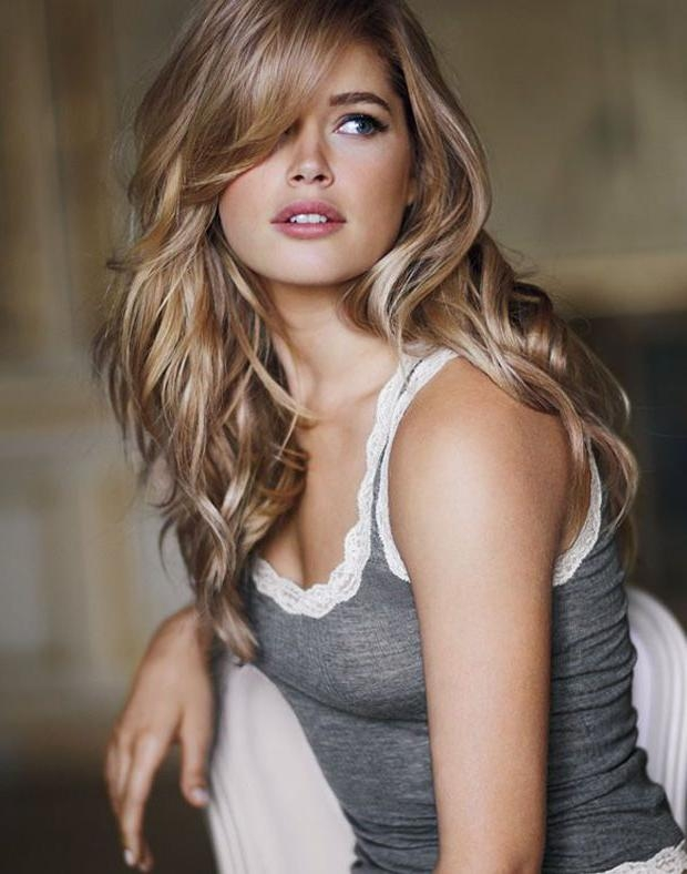 Most Popular Fringe Long Hairstyles Pertaining To Best 25+ Side Fringe Long Hair Ideas On Pinterest | Long Side (View 13 of 20)