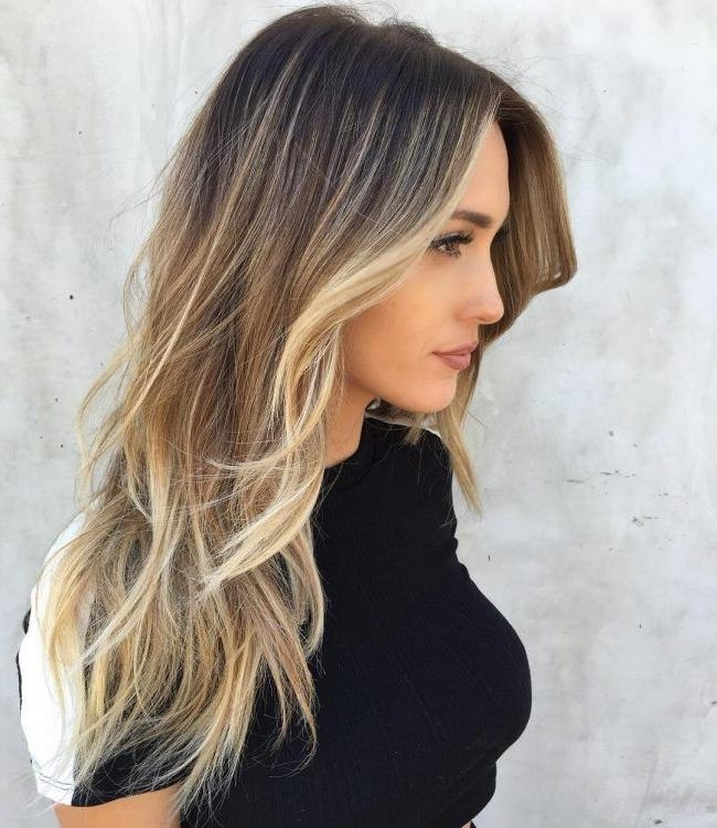 Most Popular Highlighted Long Hairstyles Pertaining To The 25+ Best Blonde Streaks Ideas On Pinterest | Blonde Hair Red (View 4 of 20)