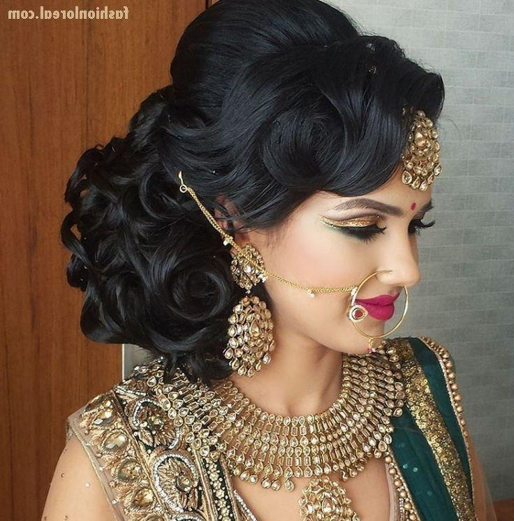 Most Popular Indian Wedding Long Hairstyles In Best 25+ Indian Wedding Hair Ideas On Pinterest | Indian Bridal (View 11 of 20)