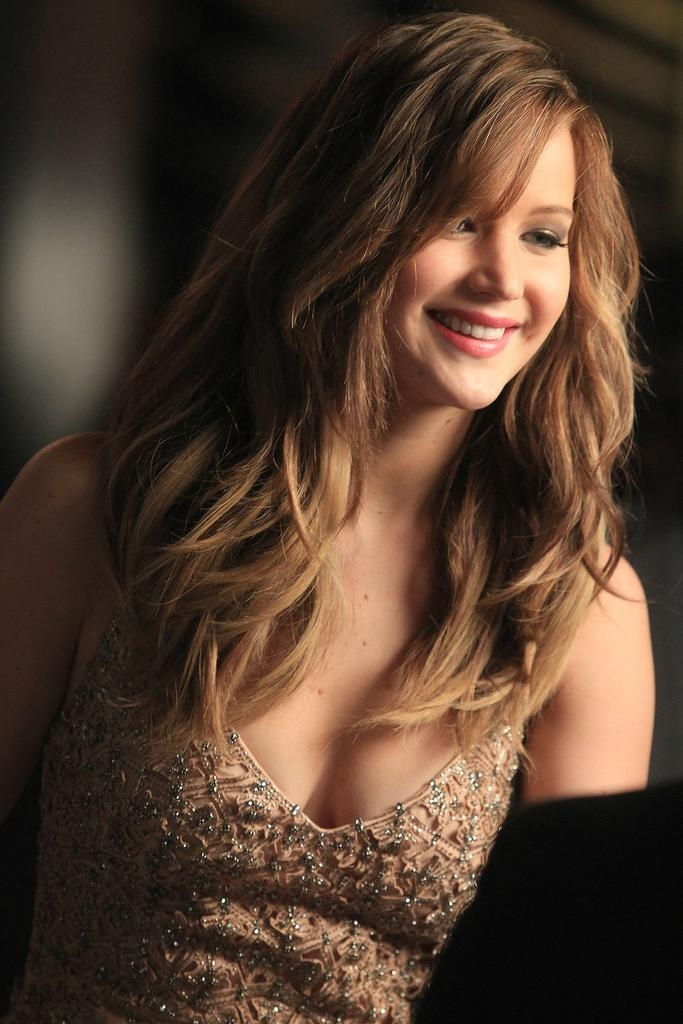 Most Popular Jennifer Lawrence Long Hairstyles Regarding Jennifer Lawrence Long Wavy Hairstyles – Fashion Trends Styles For (View 9 of 20)