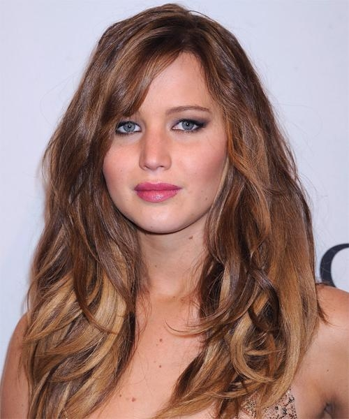 Most Popular Jennifer Lawrence Long Hairstyles With Regard To Jennifer Lawrence Long Straight Casual Hairstyle (View 11 of 20)